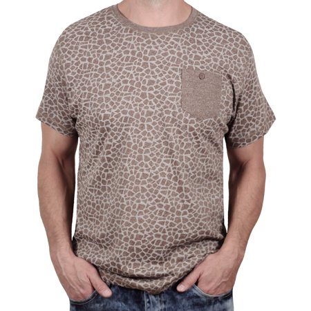 48a77a7151 Alpha Beta Clothing - Men s Giraffe Print Marled Tee from Alpha Beta ...
