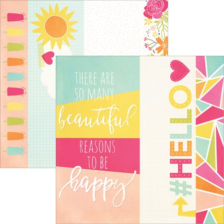 Sunshine   Happiness Double Sided Elements Cardstock 12 X12  2 X12   4 X12    6 X12