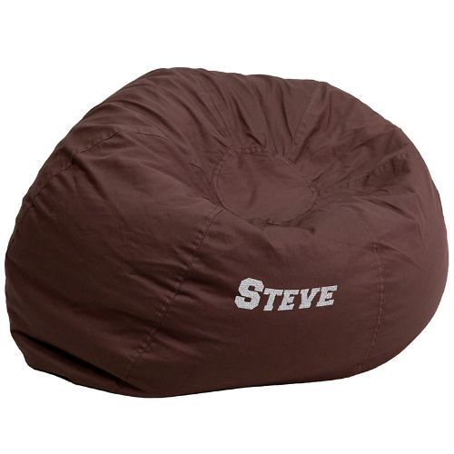 Personalized Oversized Bean Bag Chair choice, Multiple Font Styles and Font Colors