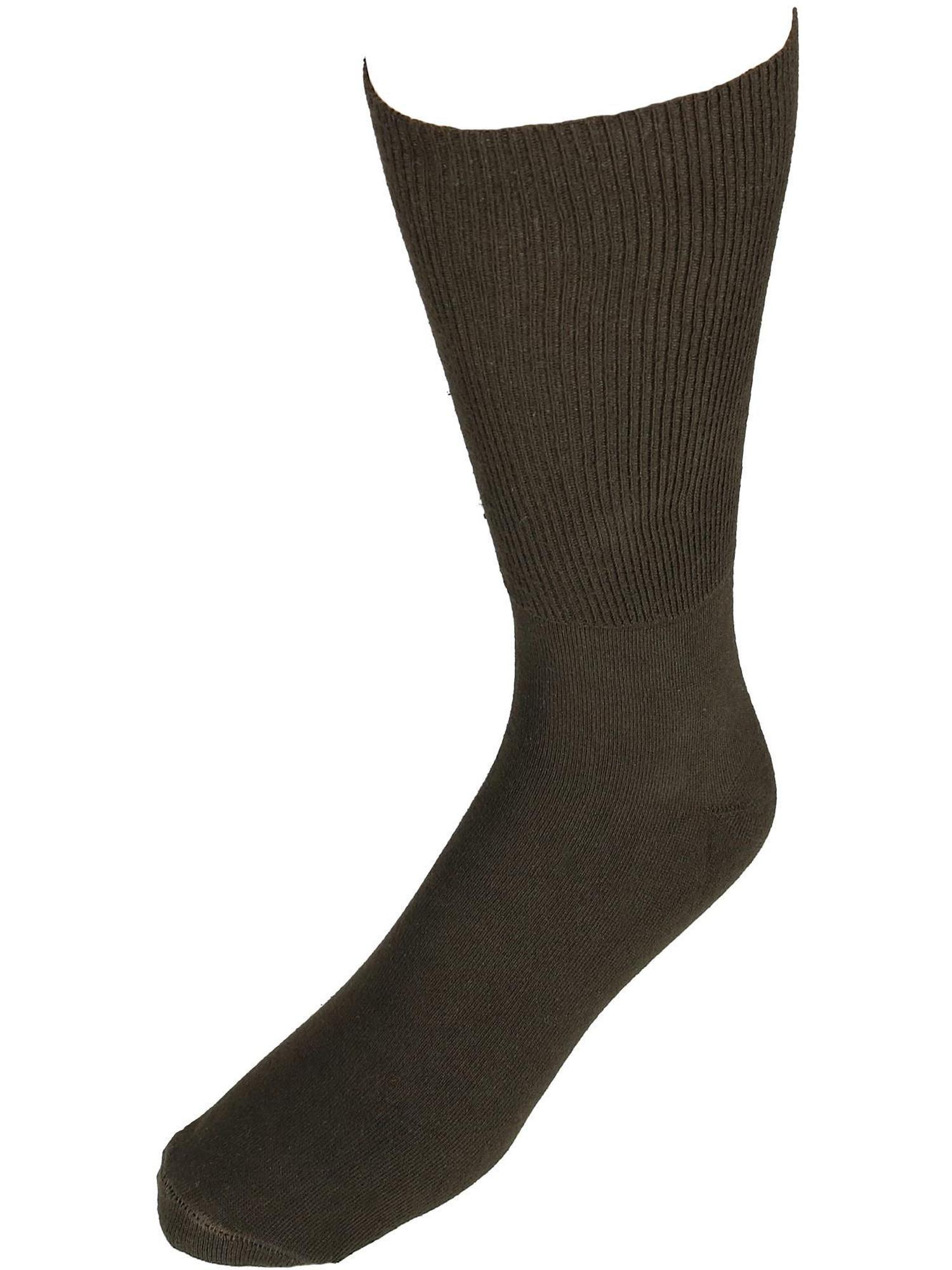 Men's Cotton Wide Dress Socks (Big & Tall Available)