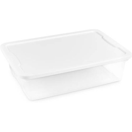Homz Snaplock® 28 Quart Clear Under Bed Storage Container with White Lid, Set of 8