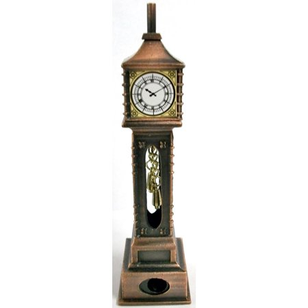 Old Time Grandfather Clock Die Cast Metal Collectible Pencil Sharpener
