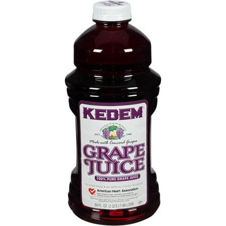 Kedem 100  Pure Grape Juice  64 Fl Oz   Pack Of 8