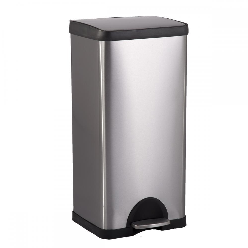 BestOffice 10 Gallon  38L Step Stainless-Steel Trash Can Kitchen S38 by