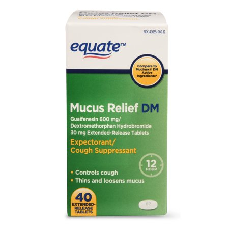 Equate Mucus Relief DM, 40 Ct (Best Medication For Mucus)
