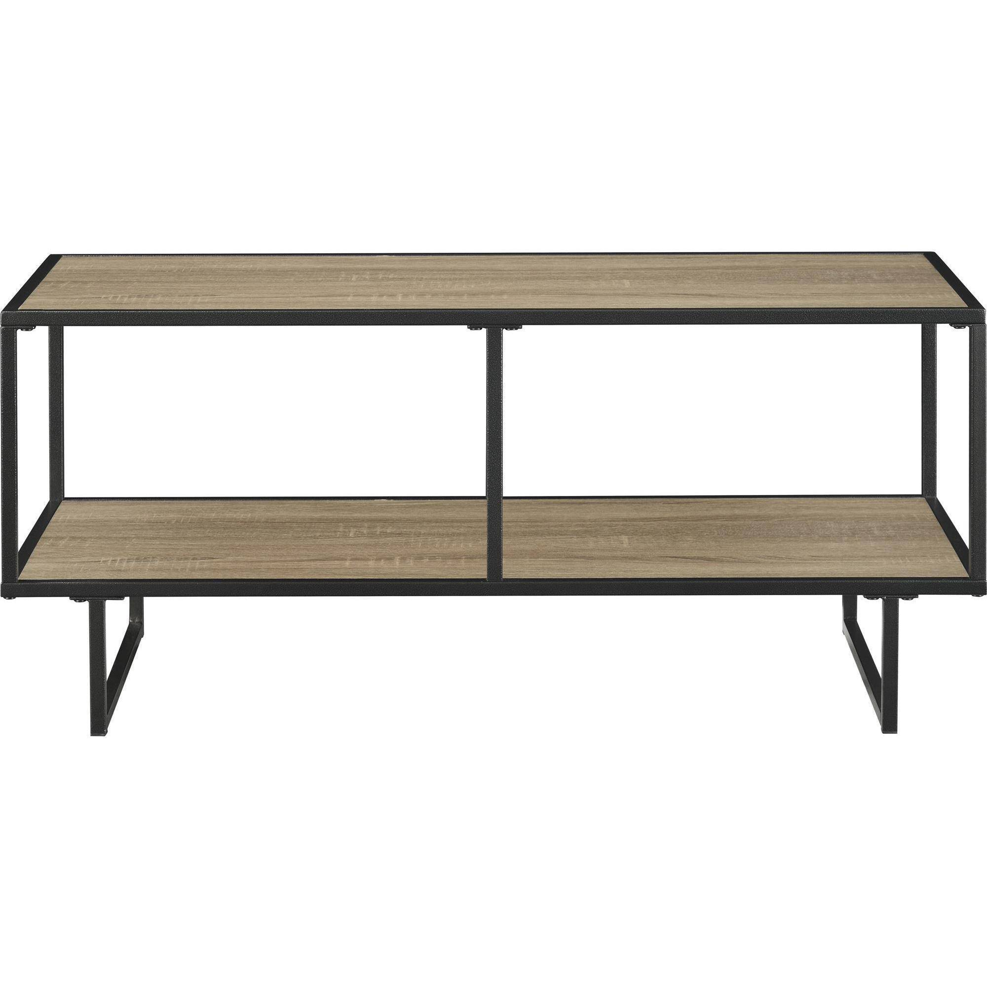 Altra Furniture Emmett 1 Shelf TV Stand Coffee Table in Sonoma Oak