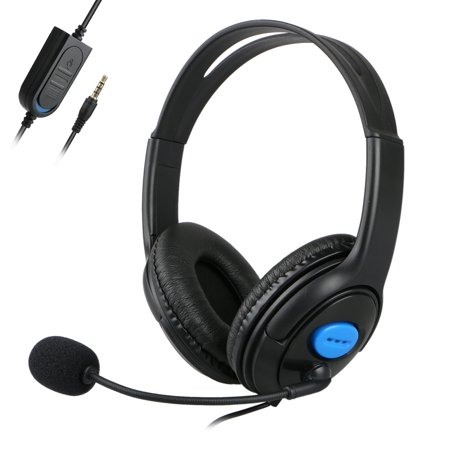Stereo Wired Headset (Wired Stereo Gaming Headset for PS4, PC, Xbox One Controller Laptop Mac, Noise Cancelling Headphones with Mic, Bass Surround, Soft Memory)