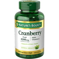 Cranberry Fruit Plus Vitamin C Herbal, 4200mg Softgels, 250ct