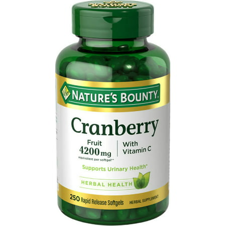 Cranberry Fruit Plus Vitamin C Herbal, 4200mg Softgels, 250ct