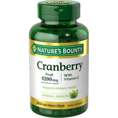 Cranberry Fruit Plus Vitamin C Herbal, 4200mg Softgels,