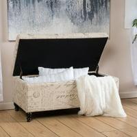 Christopher Knight Home Luke Fabric Storage Ottoman Bench by