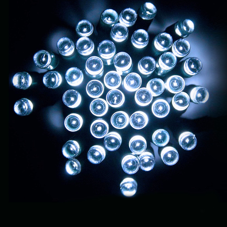100 LED White Solar Power Fairy String Light Garden Outdoor Party Decor Lights