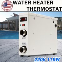 11KW 220V Swimming Pool & SPA Hot Tub Electric Tankless Water Heater Thermostat Heating Equipment With Digital Display