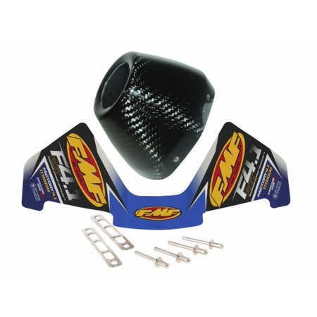 FMF Racing 040672 RCT Replacement Duel System End Caps - Carbon Fiber (Fmf Carbon)