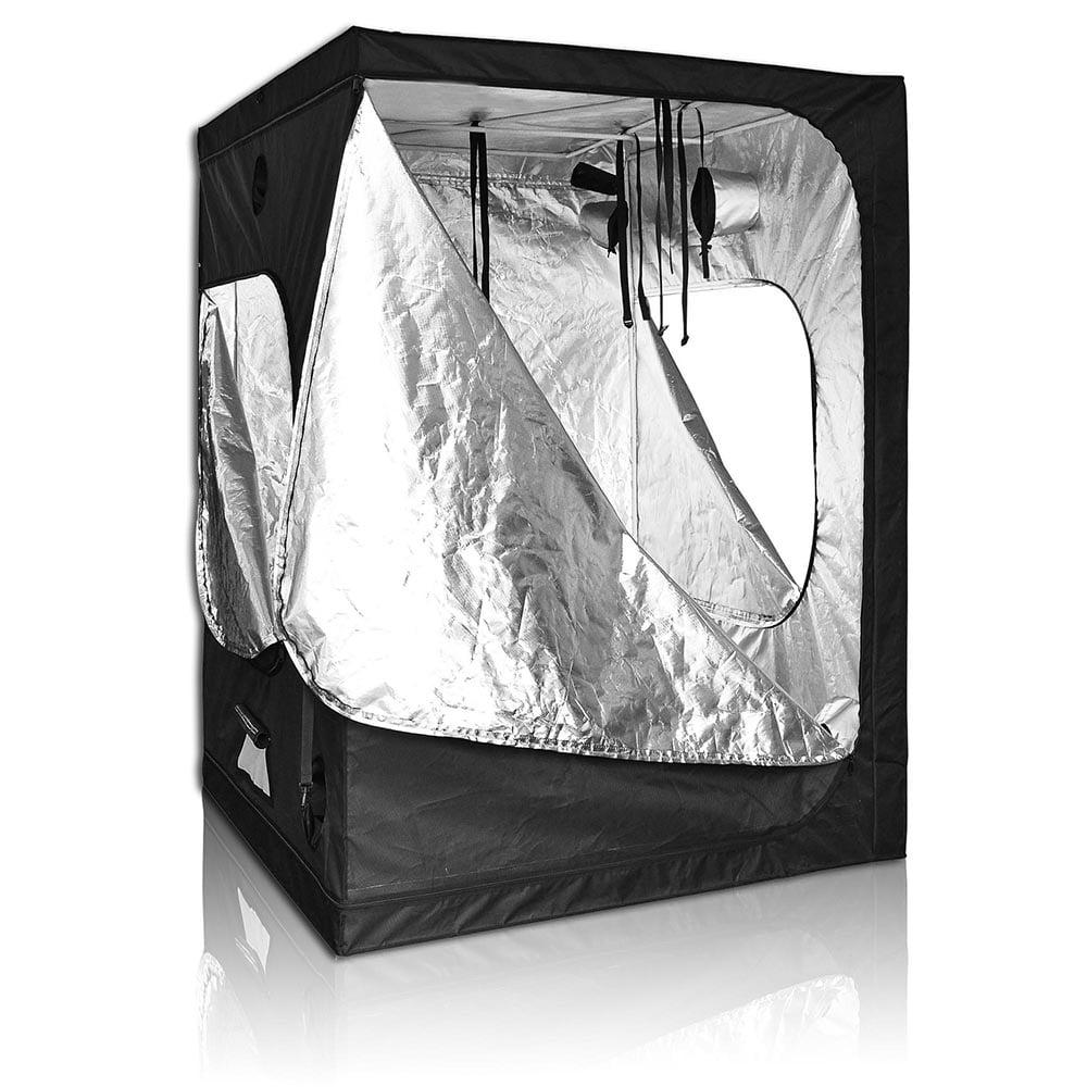 "LAGarden 60""x60""x78"" 100% Reflective Diamond Mylar Hydroponics Indoor Grow Tent Non Toxic 600D Planting Room"