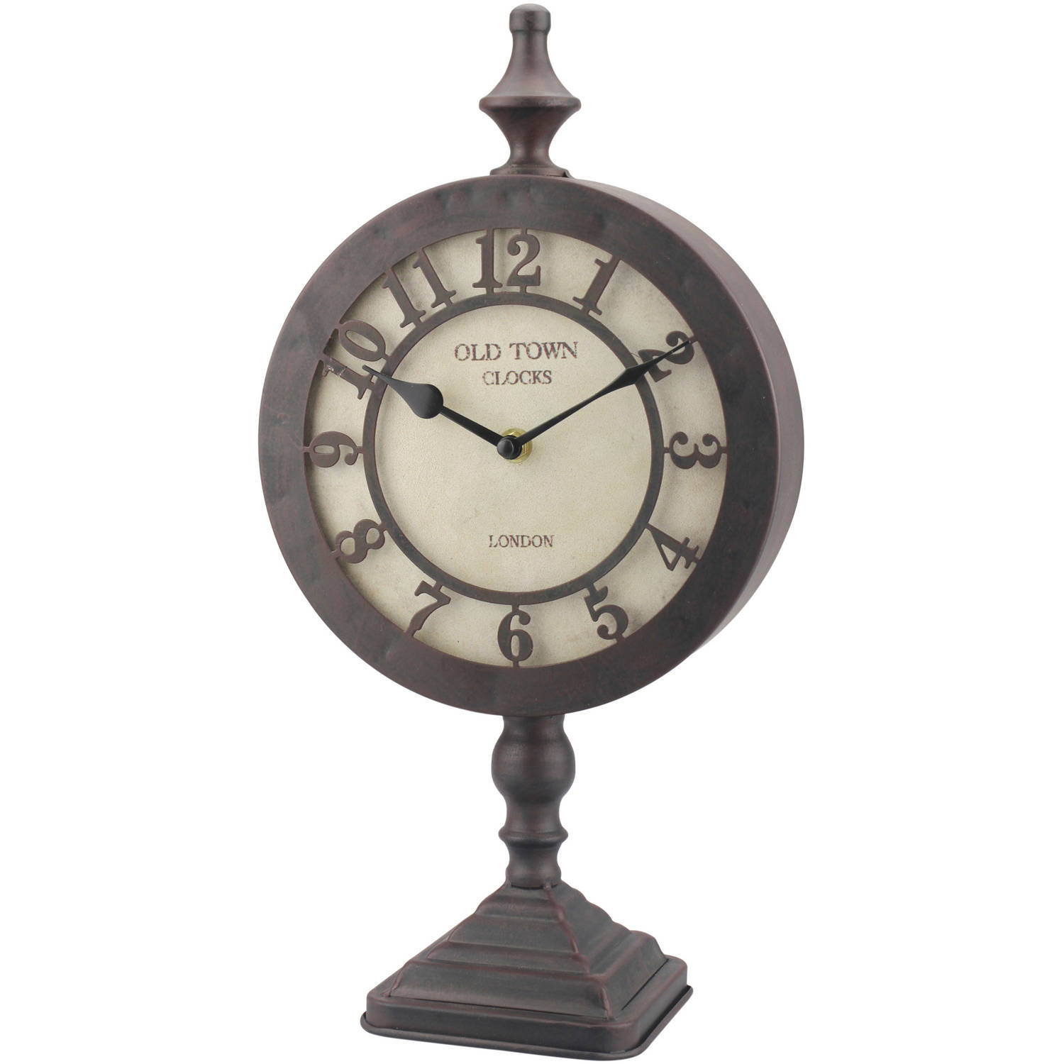 Old Town Round Tabletop Clock