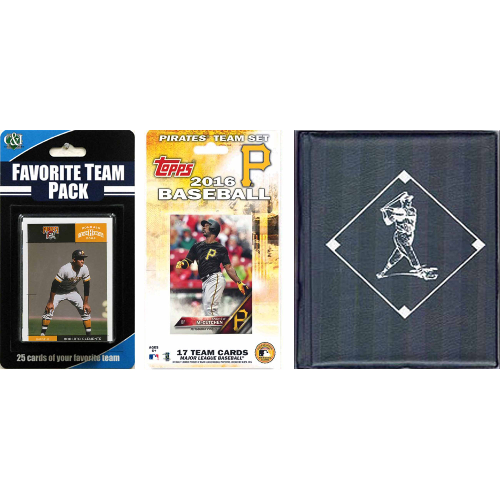 C&I Collectables MLB Pittsburgh Pirates Licensed 2016 Topps Team Set and  Favorite Player Trading Cards Plus Storage Album