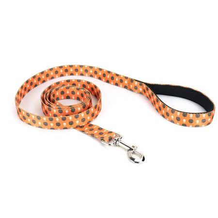 Festive Patterns - Mighty Paw Halloween Dog Leash, Special Festive Printed Pattern, Neoprene Padded Handle with Durable Polyester Webbing (Lite 0-30 lb dogs)
