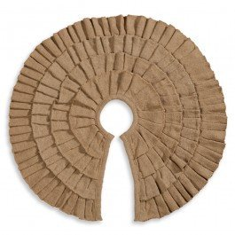 Deluxe Burlap Ruffled Christmas Tree Skirt