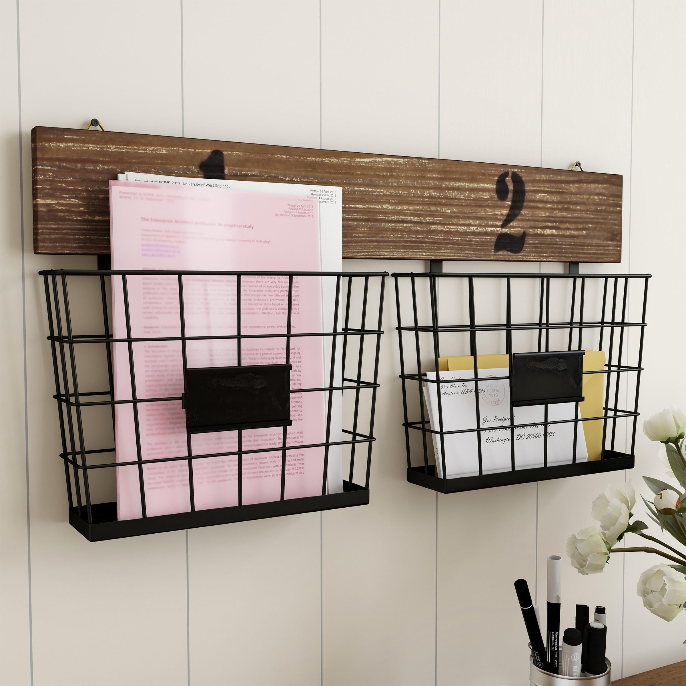 Hanging Double Wire Basket Organizer