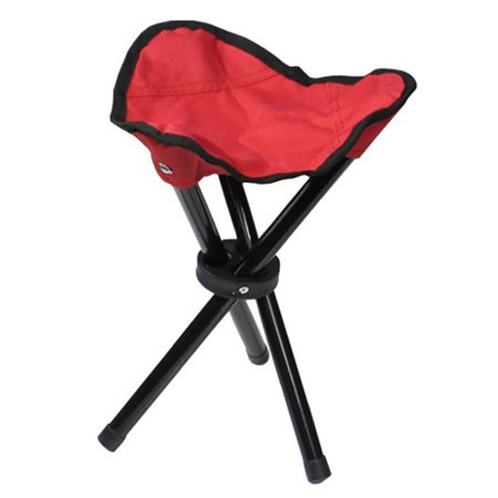 Tripod Folding Slacker Chair Portable Light weight Fishing Seat Stool For Camping Hiking Gardening