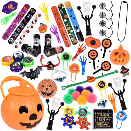 60 PCs Halloween Party Favors For Kids, Novelty Bulk Toys Assortment for Halloween Treats and Prizes, Goodie Bag