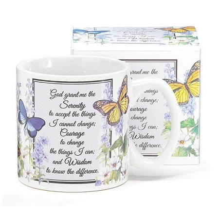 Inspirational Serenity Prayer Mug With Butterfly Design Inexpensive Gift - Inexpensive Mothers Day Gifts