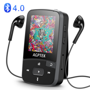 AGPTEK Clip MP3 Player with Bluetooth 4.0, Lossless Sound Music Player for Sports,  Black