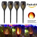 4-Pk. Touch Of ECO Solar Flickering Tiki Torches