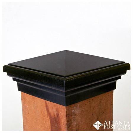 Newel Post Caps (6x6 Black Pyramid Post Cap (5.5