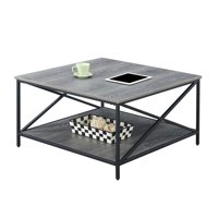 Convenience Concepts Tucson Metal Square Coffee Table
