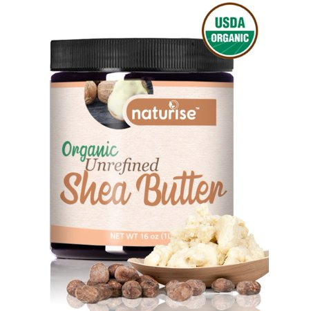 Shea Nut Body Butter (Naturise Shea Butter Raw Organic Unrefined Ivory 16 oz (1 LB) - Highest Grade African Shea Butter - Great for DIY Skincare Products and Body Butter Moisturizer for Dry Skin,)