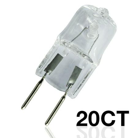 eTopLighting [20-Pack] 20W 120V Volt Replacement G8 Base Bi-Pin JCD Type Halogen Light Bulb, 2,000 Life Hours, 8mm Two Pin Separation, Savings Bundle , WMLS2530