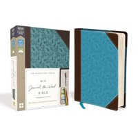 NIV, Journal the Word Bible, Imitation Leather, Brown/Blue, Red Letter Edition, Comfort Print: Reflect, Take Notes, or Create Art Next to Your Favorite Verses (Other)