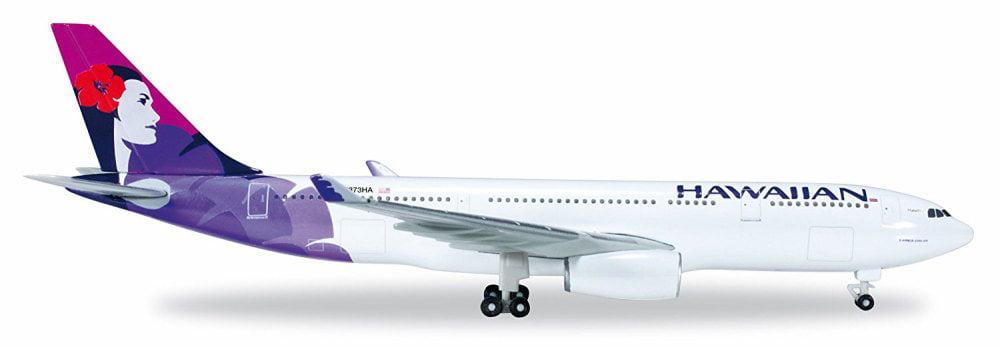 Hawaiian A330-200, White w  Purple Herpa HE519137-001 1 500 Scale Diecast Replica Model Airplane by Herpa