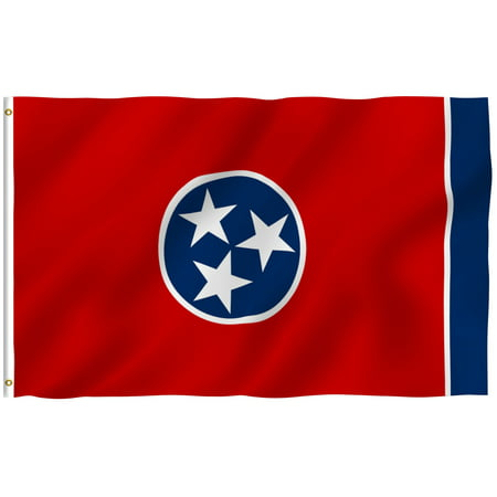 Anley Fly Breeze 3x5 Foot Tennessee State Polyester Flag - Vivid Color and UV Fade Resistant - Canvas Header and Double Stitched - Tennessee TN Flags with Brass Grommets 3 X 5 Ft Illinois State Polyester Flag