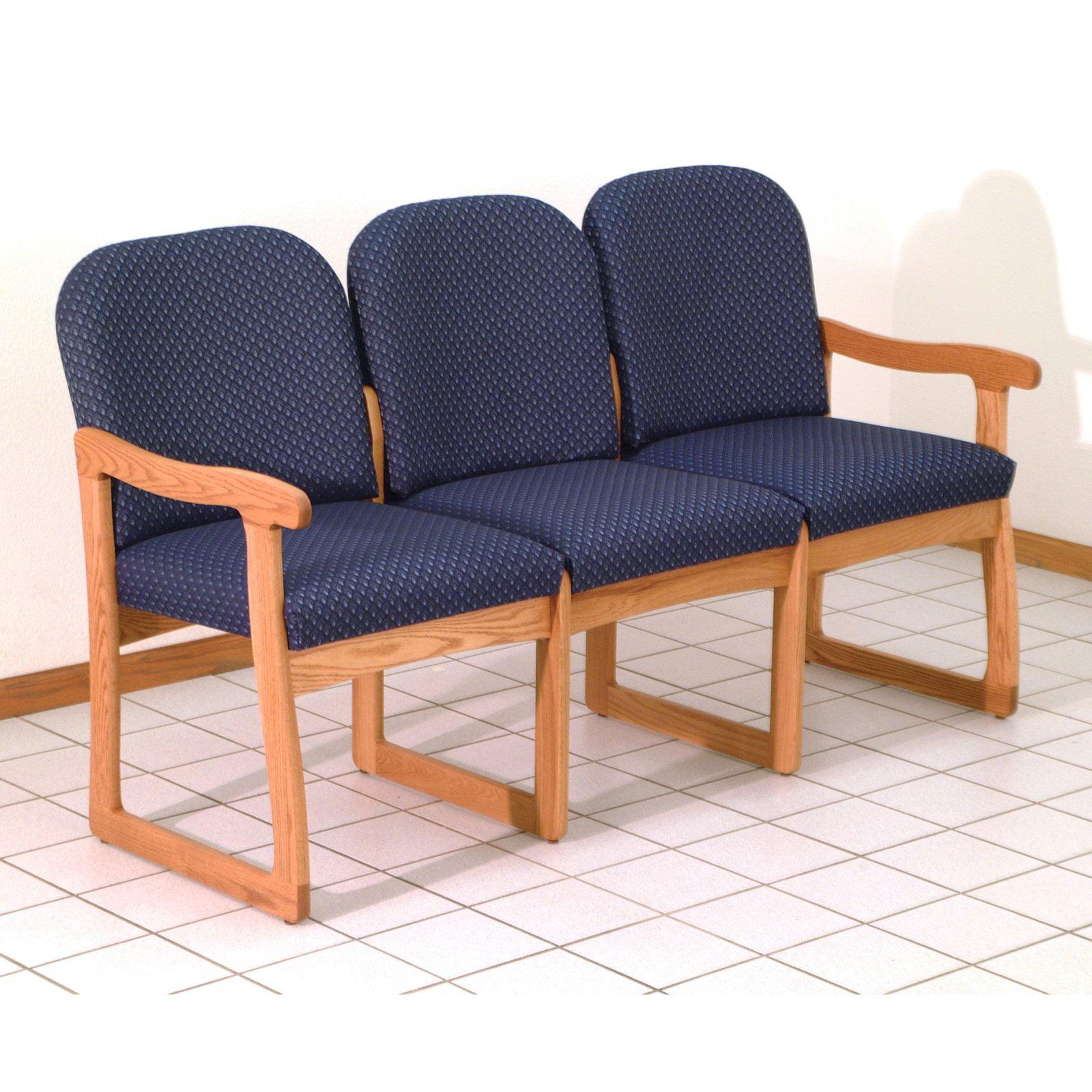 Wooden Mallet DW8-3 Solid Oak 3-Seat Sofa
