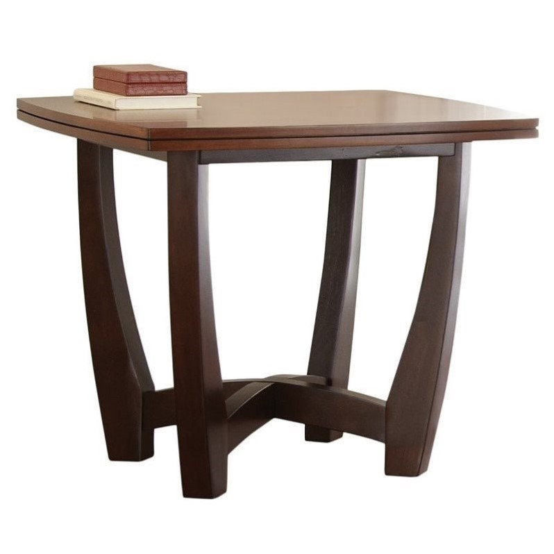 Bowery Hill End Table in Cherry Finish - image 3 of 3