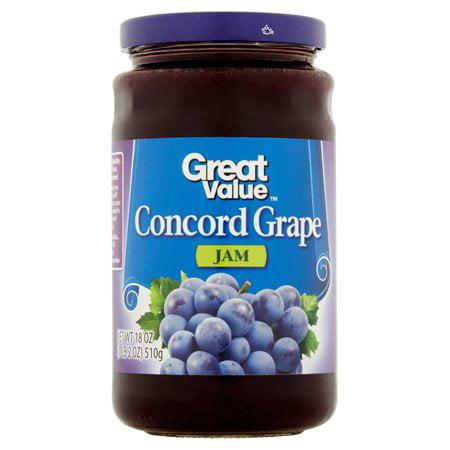 Jam Tray - (4 Pack) Great Value Jam, Concord Grape, 18 Oz