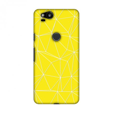 Google Pixel 2 Case, Premium Handcrafted Printed Designer Hard Snap On Case Back Cover with Screen Cleaning Kit for Google Pixel 2 - Carbon Fibre Redux Cyber Yellow 11