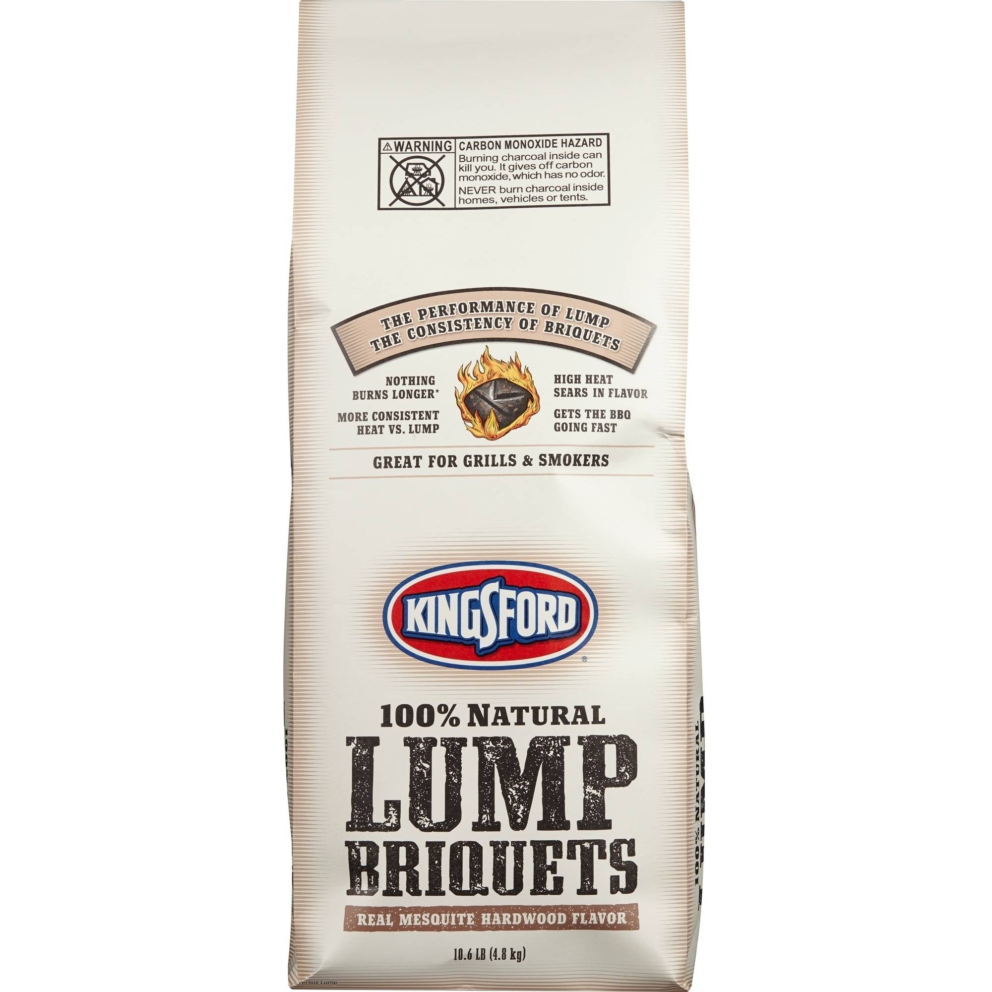Kingsford Lump Charcoal Briquets, Mesquite Hardwood Flavor, 10.6 lb Bag