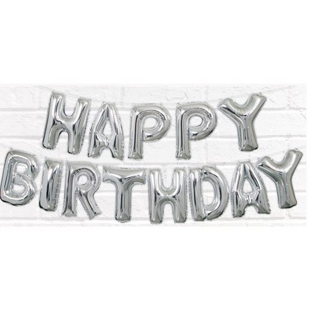 Happy Birthday Balloon Letter Banner](Custom Birthday Balloons)