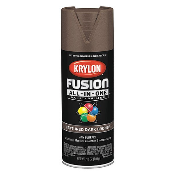 Krylon K02778007 Textured Spray Paint Dark Bronze Textured 12 Oz Walmart Com Walmart Com