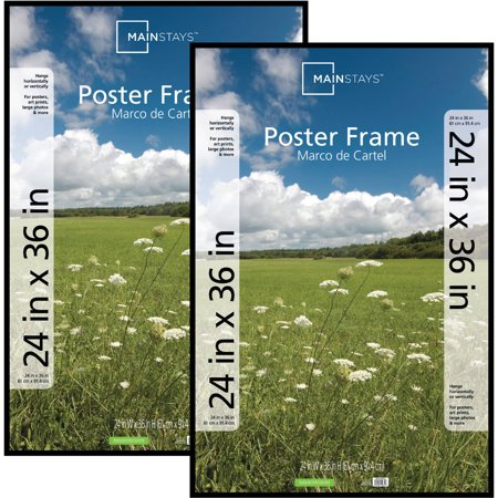 Mainstays 24x36 Basic Poster Picture Frame Black Set Of 2