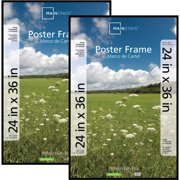 mainstays 24x36 basic poster picture frame black