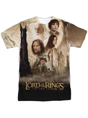 The Lord of the Rings Towers Poster Mens Sublimation Polyester Shirt White