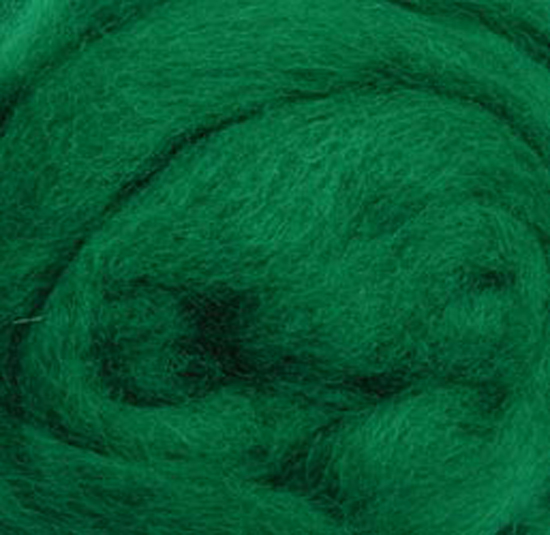 Wistyria Editions Ultra Fine 12 Wool Roving .22 Oz: Green Variegated Multi-Colored