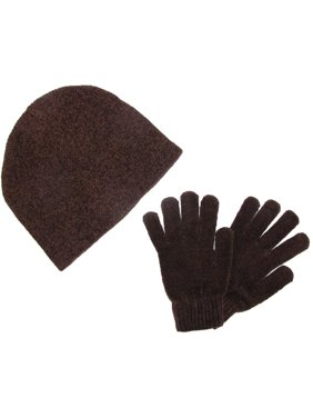 Size one size Women's Chenille Hat and Glove Winter Set