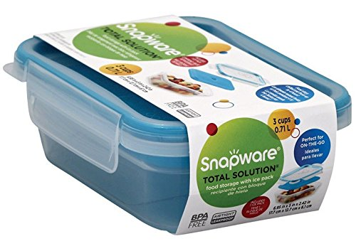 AirTight Snapware Total Solutions 3 Cup Portable Food Storage Container W/ Ice Pack  sc 1 st  Walmart & AirTight Snapware Total Solutions 3 Cup Portable Food Storage ...