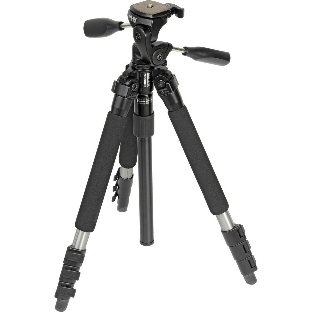 Slik Pro 340DX Tripod (Titanium) with 3-Way Pan/Tilt Head 613-340 *NEW*